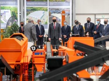 Prezydent z wizytą w zakładzie Pronar