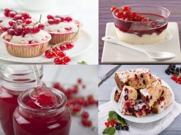 Smaczne i kolorowe desery z czerwonych porzeczek