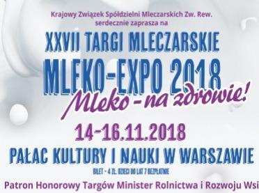 Mleko-Expo 2018. Zaproszenie na Targi Mleczarskie!