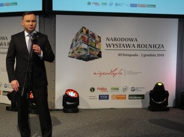 Prezydent Duda na Narodowej Wystawie Rolniczej: Nie zgodzę się na podwyższenie VAT-u na leki weterynaryjne!