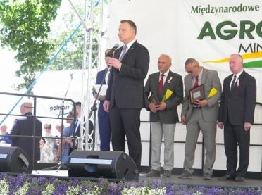 Prezydent RP na Targach AGRO-TECH w Minikowie