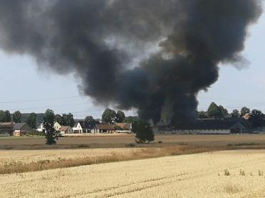 Pod Opolem spłonęło w pożarze 20 krów