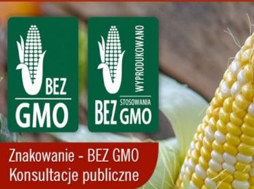 Dwa wzory oznaczenia ,,wolne od GMO''