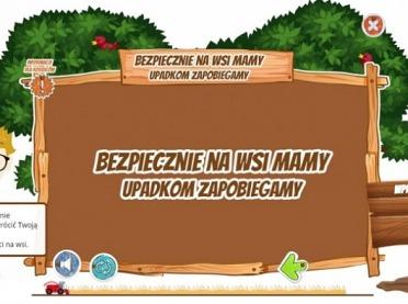 """""""Bezpiecznie na wsi mamy – upadkom zapobiegamy"""" - szkolenie e-learningowe dla dzieci"""
