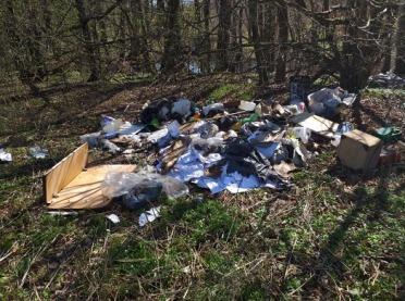 Rolnik zrobił w lesie wysypisko śmieci
