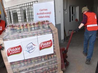 Żywność od Grupy Kapitałowej KSC S.A. dla gdańskiego Caritas