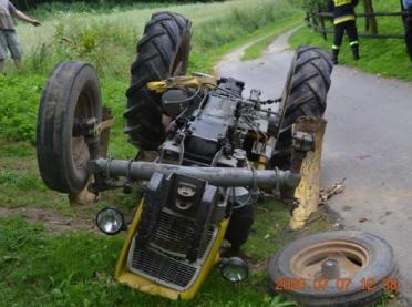 Poważny wypadek podczas prac polowych