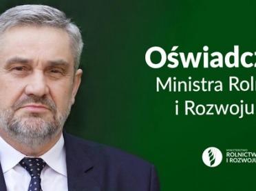 """""""Piątka dla zwierząt"""" - Minister Ardanowski wydał specjalne oświadczenie"""