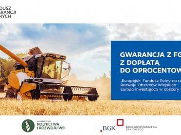 Gwarancja spłaty kredytu z Funduszu Gwarancji Rolnych wraz z dopłatą do oprocentowania